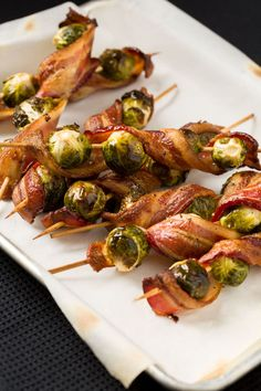 Over the bacon trend? Pssh. Twirl slices around Brussels sprouts for a finger food to remember. Get the recipe on Delish.
