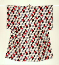 A classic kimono with a contemporary design.