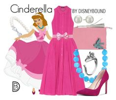 """Cinderella"" by leslieakay ❤ liked on Polyvore featuring Belk & Co., Lisa C Bijoux, Raoul, Ice, Jeckerson, Nine West, Kenneth Jay Lane, disney, disneybound and disneycharacter"