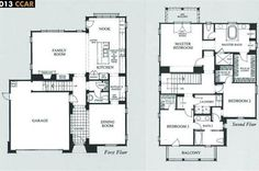 Belvedere at Gale Ranch by Toll Brothers (Shapell Homes) and Robert Hidey Architects - The Palisade (Plan 2) - Floor Plan
