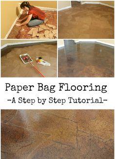 DIY Paper Bag Floor