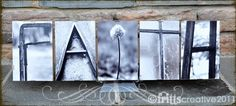 Name sign, Our Son and Daughter inlaw made one for us....it is beautiful!
