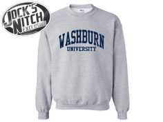 I don't want the one in the picture, I want this one:. Washburn University Ichabods JERZEES Unisex NuBlend® 8oz Crewneck Sweatshirt with Sparkle Twill™ (562MR) –$38.99, size small or medium