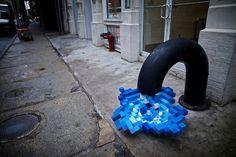 Du Street Art avec des Lego Wikilinks