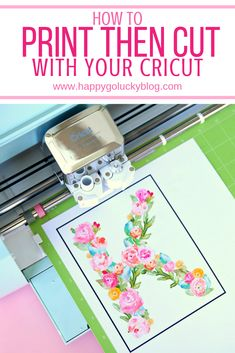 A step by step tutorial on how to print then cut with your Cricut and make a Floral Watercolor Monogram with Printable vinyl. A step by step tutorial on how to print then cut with your Cricut and make a Floral Watercolor Monogram with Printable Vinyl. Cricut Print And Cut, Cricut Tutorials, Cricut Ideas, Cricut Vinyl Projects, Vinyl Crafts, Wood Crafts, Fun Crafts, Paper Crafts, Circuit Crafts