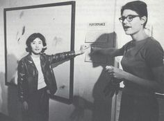 FLUXUS Mieko Shiomi & Alison Knowles - 1964 by Peter Moore.
