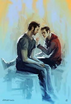 """akimao: """" I draw a sterek after one year,(i guess)…it's the blue moon fault. Teen Wolf Art, Teen Wolf Ships, Teen Wolf Dylan, Cute Gay Couples, Couples In Love, Mtv Tv, Sterek Fanart, Peter Hale, Solo Photo"""