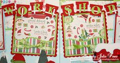 """Good afternoon everyone:) Today I am sharing a layout titled """"Santa's Workshop"""".     For this layout, I used patterns from Designs on Cloud..."""