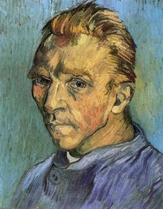 "Vincent van Gogh, Self-Portrait, Saint-Rémy: September, 1889, o/c. ""I have often neglected my appearance. I admit it, and I also admit that it is ""shocking.""  ~  July 1880, letter to Theo."