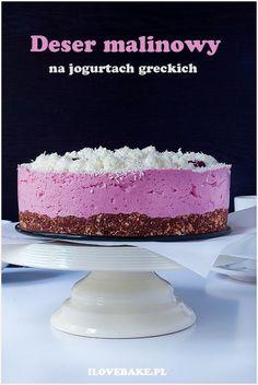 deser z malinami z masą jogurtową