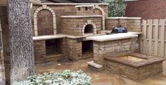 A Beautiful Wood Fired Oven and Patio by Checkmark Landscaping! A touch of Italy in Texas!!  BrickWoodOvens.com