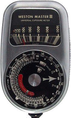 vintage light meter late 1960s