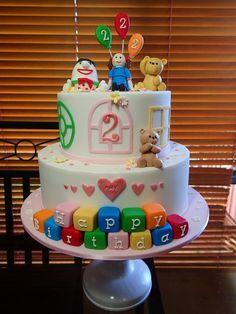 Play School Cake 3rd Birthday Cakes, School Birthday, First Birthday Parties, Birthday Celebration, Third Birthday, Birthday Ideas, Cupcake Party, Party Cakes, School Cake