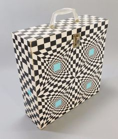 1960's Vintage Platter Pak Psychedelic Record Case, Black & White Check Freakout | Music, Storage & Media Accessories | eBay!