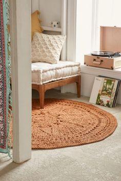 Plum & Bow Avila Crochet Jute Rug - Urban Outfitters