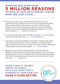 Check out just a few of the reasons Moms Love R+F. For me, it gives me the opportunity to design lives with more money, time, purpose and possibilities! Let's talk about what it could do for you. https://elizabethdoyle.myrandf.com