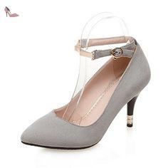 BalaMasa , Escarpins pour femme - Gris - Gris, 39.5 - Chaussures balamasa (*Partner-Link)