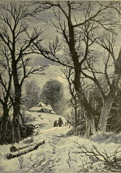 """geisterseher: """" Frank S. Burton, Green Fields and Whispering Woods """" Winter Painting, Winter Art, Winter Scene Paintings, Winter Snow, Winter Landscape, Landscape Art, Winter Images, Winter Scenery, Christmas Scenes"""
