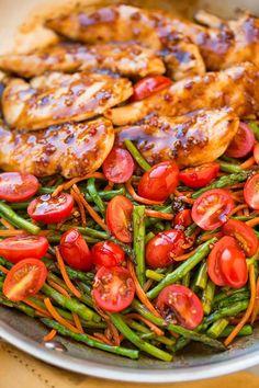 One Pan Balsamic Chicken and Veggies | Cooking Classy #chickenrecipeshealthyonepan