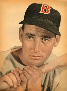 """""""If there was ever a man born to be a hitter it was me."""" – Ted Williams, Boston Red Sox he was so modest. Red Sox Baseball, Baseball Socks, Sports Baseball, Baseball Players, Baseball Cards, Boston Red Sox, Boston Sports, Red Sox Nation, Boston Strong"""