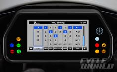 2015 Yamaha YZF-R1 YRC Multifunction Meter dashboard