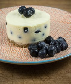 Blueberry White Chocolate Mini Cheesecake
