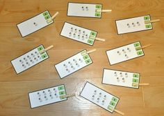 Counting Sprouts Clothespin Task--Students count the sprouts and attach one clothespin per card to indicate the number shown. This clothespin task goes with our Plant Life Cycle Adapted Book Unit.