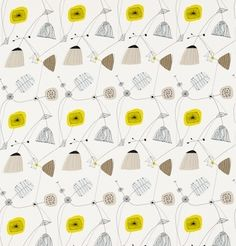 Perpetua Fabric Sunflower/Pebble DFIF220055, £31.00 (http://www.britishwallpapers.co.uk/perpetua-fabric-sunflower-pebble-dfif220055/)