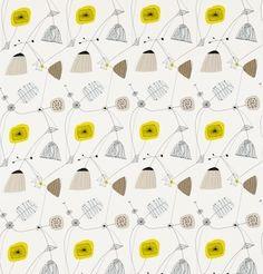 Perpetua Fabric Sunflower/Pebble DFIF220055, £31.00 (http://www.britishwallpapers.co.uk/perpetua-fabric-sunflower-pebble-dfif220055/)