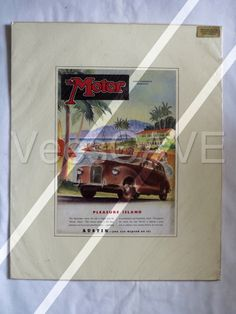 Genuine Vintage British Automobile advert - ready for framing. Austin - you can depend on it!