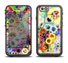 The Rainbow Colored Unfocused Light Circles Apple iPhone 6/6s Plus LifeProof Fre Case Skin Set from DesignSkinz
