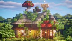 Minecraft Cottage, Cute Minecraft Houses, Minecraft Mansion, Amazing Minecraft, Minecraft House Designs, Minecraft Creations, Minecraft Crafts, Minecraft Buildings, Minecraft Medieval House