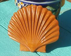 Wood Clam Shell - Kitchen Magnet- Relief Carving