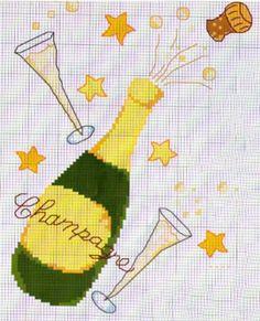 Auguri, buon anno, happy new year - punto croce - cross Stitch - Kreuzstich - Punto de Cruz