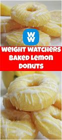 Baked Lemon Donuts smartpoints 3 - weight watchers recipes