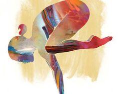 Yoga arte Lado tabla POSE grande Yoga de la pared arte