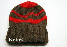 Wool Manly Outdoorsman Hat Mens Handknit Wool Hat Women Ski Hat Warm Hunting Hat Mens Winter Hat Stocking Hat Wool Ski Hat Brown Red Wool by Knitrx on Etsy