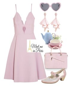 """""""Elegant look for date"""" by rousou ❤ liked on Polyvore featuring Giambattista Valli, Oscar de la Renta Pink Label, Collezione Alessandro, Vans and Wall Pops!"""