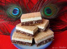 Domowy knoppers - wafelek z masą mleczną i orzechową Nutella, No Bake Desserts, Dessert Recipes, Polish Recipes, Homemade Cakes, Baked Goods, Tiramisu, Cheesecake, Cooking Recipes