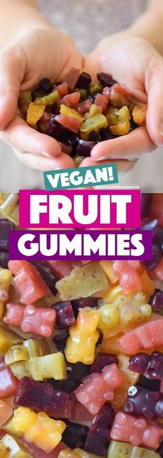 Feed your cuties these healthy gummy fruit snacks that are made without gelatin but are bursting with flavor and fresh fruit!