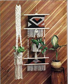 ideias para suspender plantas em casa com suportes em macramê
