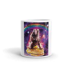 Space Cat Llama Sloth Riding Taco Mug Cat Riding Unicorn, Ice Cream Taco, Unicorn Coffee Mug, Cookie In A Mug, Galaxy Cat, Pizza Cat, Cat Mug, Space Cat, Lasagne