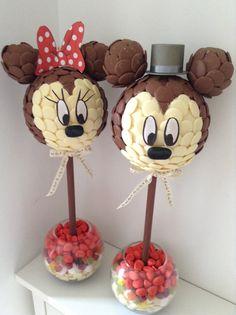 Minnie & Mickey Bride & Groom sweet trees