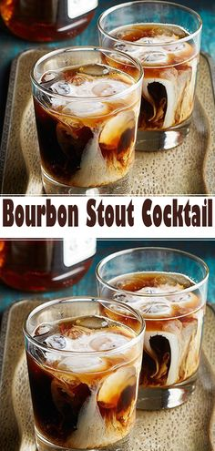 Bourbon Stout Cocktail Ingredients cup chocolate stout cup bourbon 1 teaspoon vanilla 1 - 2 tablespoons chocolate-flavored syrup Ice cubes Half-and-half or light cream Bourbon Drinks, Bar Drinks, Cocktail Drinks, Cocktail Recipes, Beverages, Whiskey Cocktails, Cocktail Maker, Cocktail Ideas, Craft Cocktails