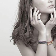 #invidia_jp #bracelet #swalovski #rectangle #color #tennisbracelet