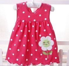 Girls Dress Top Quality 2017 baby girls dress Princess 0-2years baby Dress Cotton Clothing Dress Summer Girls Clothes Low Price
