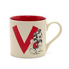 mug mickey lettre r mugs ou tasses disney cup or mug disney pinterest. Black Bedroom Furniture Sets. Home Design Ideas