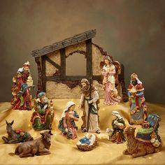 Kirkland Signature 13 Piece Tabletop Christmas Nativity Set wise men angel