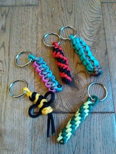 Another terrible photo; some of the larger keyrings I made to sell for Children in Need at work