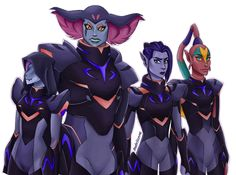 Okay I absolutely love the fact that the generals are female because in Voltron there are a lot of leading male characters so to have some girls is awesome. Tho nothing against the male characters or anything.